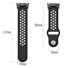 Load image into Gallery viewer, 20mm Silicone Band for Galaxy 46mm 42mm Gear S3 S2 Classic Sport Strap for Huami Amazfit Bip Huawei Watch 2 GT