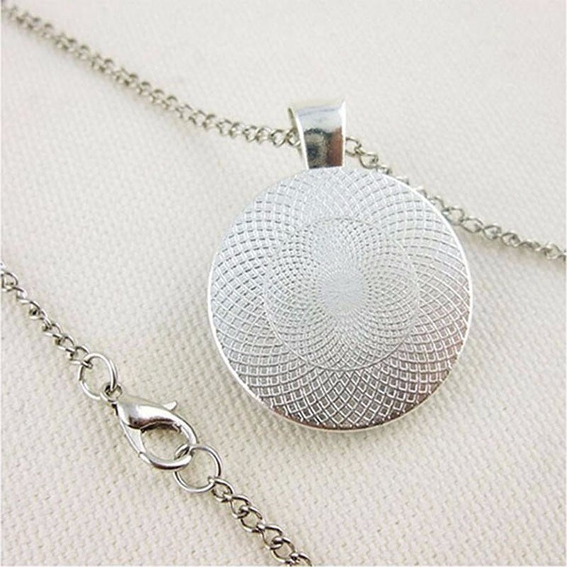 Classic Couple Necklace To My Wife... I Love You Convex Round Handmade Glass Pendant Necklace Gift for Girlfriend