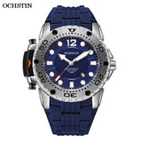 OCHSTIN 2019 New Mens Fashion Sport Watch top brand luxury Quartz Waterproof Military Silicone Strap Wrist Watches relogio masculino with Gift Box