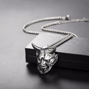 Gothic Devil Necklace Demon Stainless Steel Pendant & Chain Three Color Christmas Gift Jewelry Necklaces Accessories