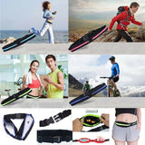 Dual Pocket Running Belt Phone Pouch Waist Bag Sports Travel Pack Outdoor New