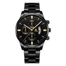 Load image into Gallery viewer, Men Watch Chronograph Sport Mens Watches Luxury Brand Luxury Waterproof Full Steel Quartz Gold Clock Men Military Watches