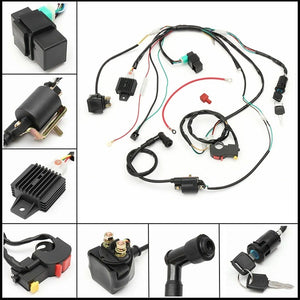 CDI Wiring Harness Electronic Harness Wire Engine Set Fit For 50cc 70cc 90cc 110cc PIT Quad Dirt Bike ATV Dune Buggy Off-Road Motorcycle