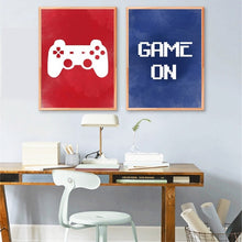 Load image into Gallery viewer, Video Game Wall Art Canvas Painting Gaming Room Decor  Video Game Party Art Canvas Painting Pictures Boys Room Wall Decoration (No Frame)