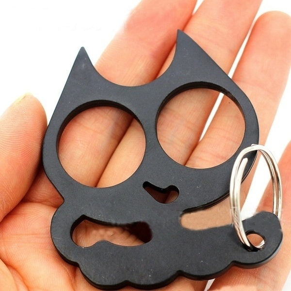 Cat Shape Two-handed Finger Buckle Defensive Finger Tiger Boxing Fist Brass Buckle