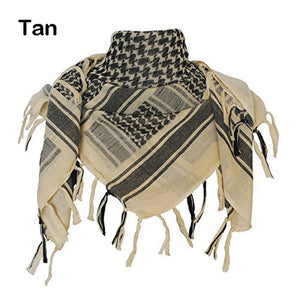 100% Cotton Military Shemagh Tactical Desert Scarf Head Wrap