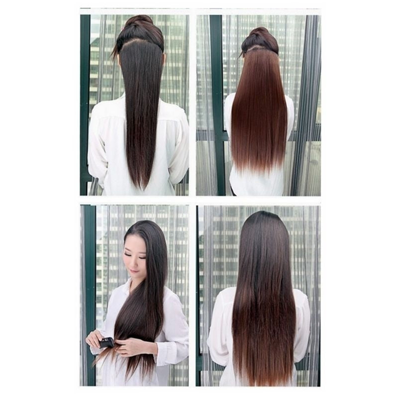 Women Wig Clip In Hair Extensions Hair  Straight Wig Hairstyle  60cm 8 Colors Z1907WL7-124