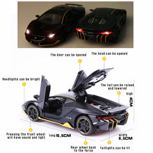 Load image into Gallery viewer, 1:32 Can Open The Door of A Large Sports Car With sound and light alloy car fine collection gift ornaments model toy car