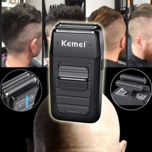 2019 NEW HOT HIGH Men's Rechargeable Cordless Shaver Twin Blade Reciprocating Beard Razor Face Care Multifunction Strong Trimmer Professional Hair Clipper Electric Trimmer Hair Cutting Machine Hair Care Tools