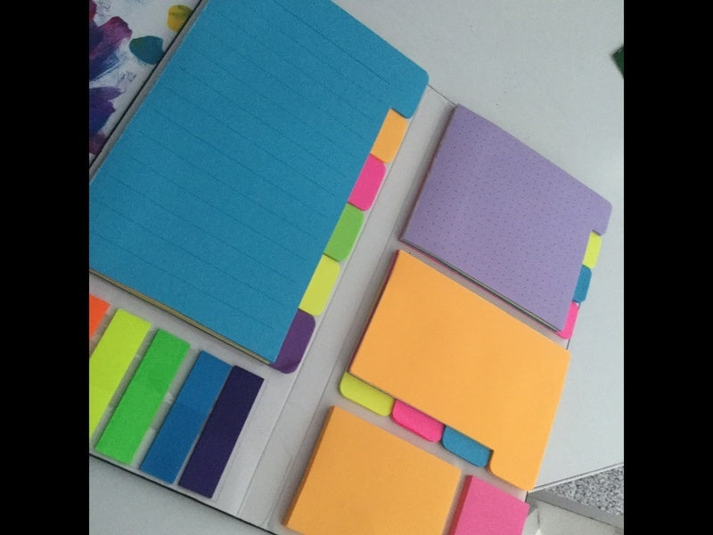 1 PCS Divider Sticky Notes Set with Color Coding 60 Ruled