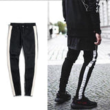 Men's Broken Hole Feet Slim Jeans.