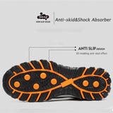 AtreGo Men's Breathable Casual Comfortable Work Shoes Steel Toe Cap Casual Safety Working Shoes For Construction Site Worker
