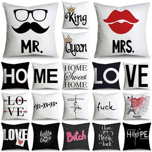 Simple Fashion Series(Double-Sided Printing) Pillow Cover Microfiber Soft Cushion Cover Sofa Pillow Case 18' x 18' (45 cm x 45 cm)