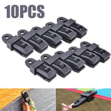 10pcs Reusable Tent Awning Clamp Outdoor Camping Canvas Tighten Fixing Trap Clip