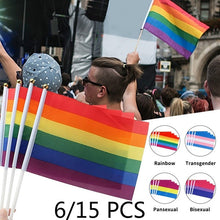 Load image into Gallery viewer, 6/15PCS Pride Flag Rainbow / Transgender / Pansexual / Bisexual LGBT Flag