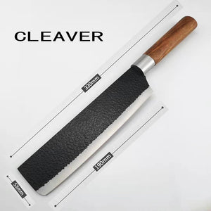 Chef Knife Set Knives Kitchen Set - Stainless Steel Kitchen Knives Set Wood Handle with  Black Gift Box- Professional Chppping Fruit Knife Sharpener - 3 Piece Stainless Steel Cutlery Knives Set