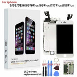 LCD 3D Touch Screen Digitizer for IPhone 5/5C/5S/SE/6/6 Plus/6S/6S Plus/7/7Plus/8/8Plus Mobile Phone LCD Replacement Full Assembly