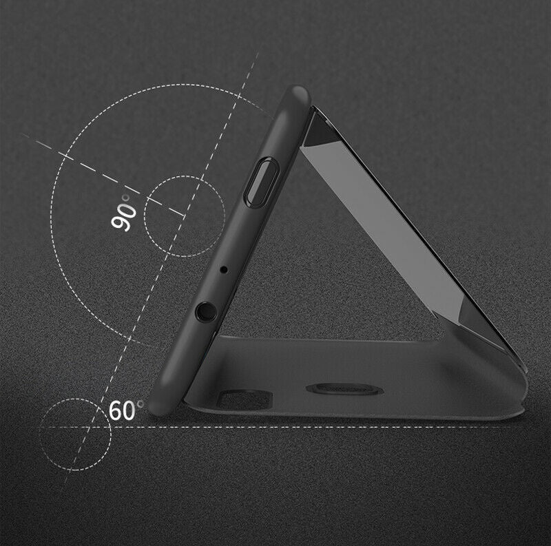 For Google Pixel 3a / 3a XL Case Luxury Smart View Mirror Leather Flip Stand Cover