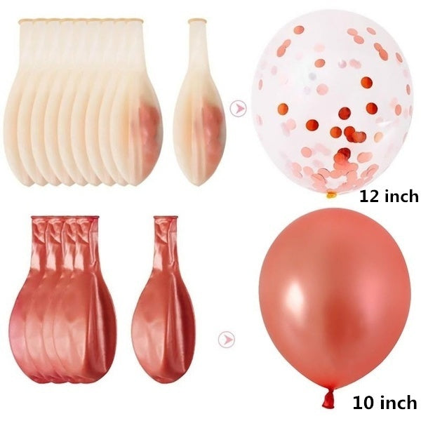 33pcs/43Pcs Mix Rose Gold Confetti Latex Balloon Birthday Wedding Balloons Party Decoration Air Ball Kids Adult Baby Shower Party Supplies