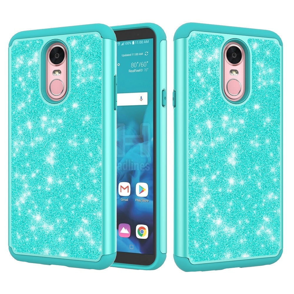 For LG Stylo 5 / Stylo 5 Plus Case Glitter Sparkle Bling Hybrid Armor Shockproof Protective Cover
