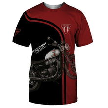 Load image into Gallery viewer, Motorcycles Triumph Design Cool Streetwear Unisex Clothing Shorts Round Neck Top Tee