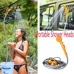 Portable 12V Electric Car Auto Camping Hiking Travel Outdoor Shower Kit Hook