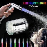 7 Color RGB Colorful LED Light Water Glow Faucet Tap Head Home Bathroom Decoration Stainless Steel Water Tap