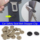 Car Seat Belt Stopper Buckle Button Spacing Limit Buckle Fastener Clip