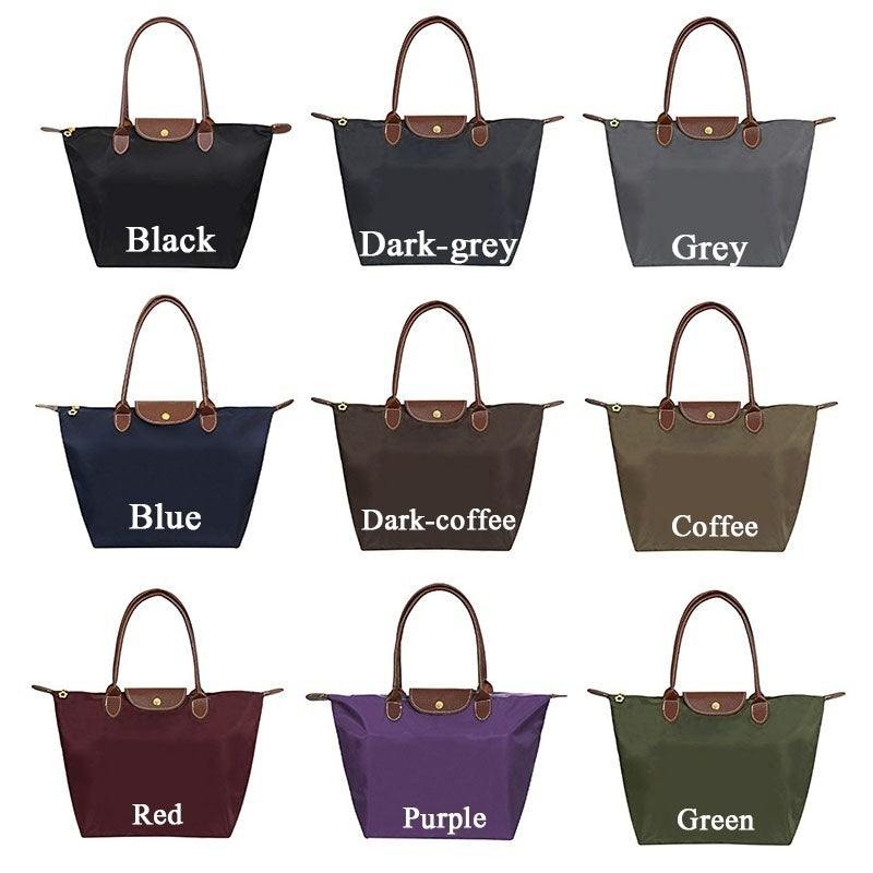 Women Fashion Hobo Bag Large Capacity Tote Bag Folding Ladies Shopping Shoulder Bags Dumpling Bag