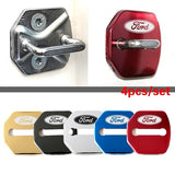 Stainless Steel Car Door Lock Cover for Ford Cars Style 4PCS/SET Pack Ford Focus Mondeo Maverick Fiesta Car Lock Protector Case
