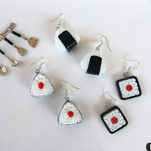 Load image into Gallery viewer, Lovely Handmade Japanese Harajuku Rice Balls Drop Earrings Diy Cute Geometric Sushi Food Funny Earrings For Women Girl Jewelry