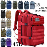 New 900D Oxford 45L Waterproof Outdoor Military Rucksacks Tactical Backpack Sports Camping Hiking Trekking Fishing Hunting Bag