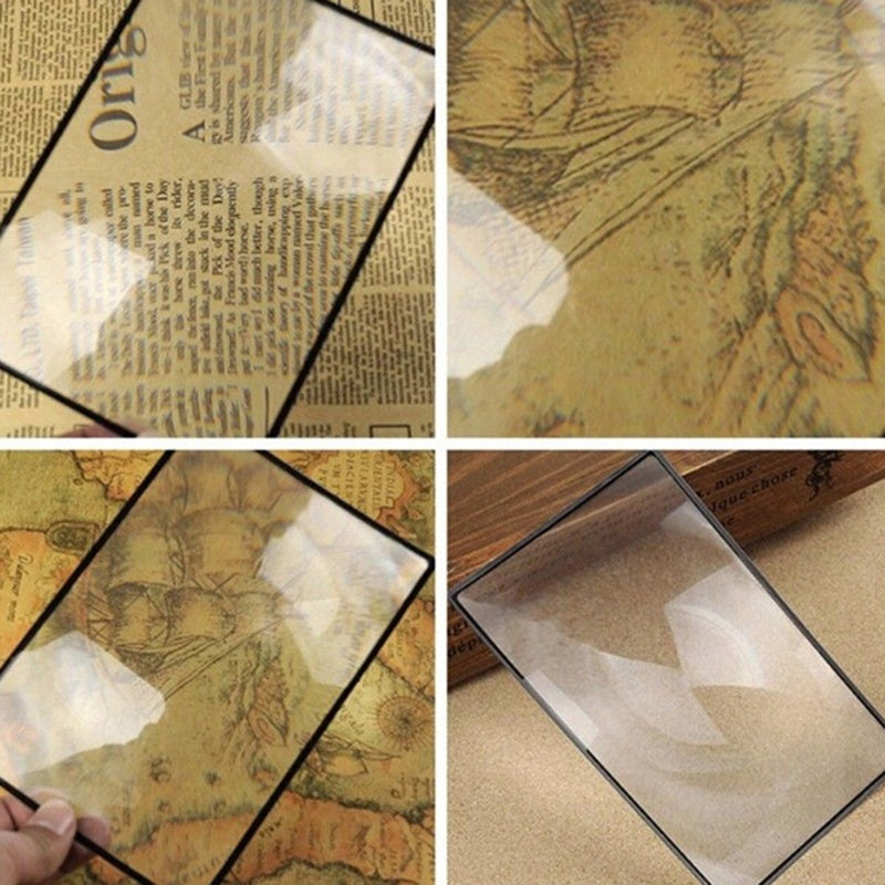 A5 Flat PVC Magnifier Sheet X3 Book Page Magnifying Reading Glass Lens