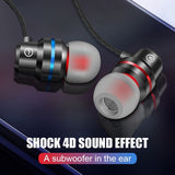 Heavy Bass Metal Mobile Phone Earbuds USB Type C Earphone 3.5mm Headphone for Samsung Meizu Xiaomi Huawei Sports Wired Earphone Type-c Headset