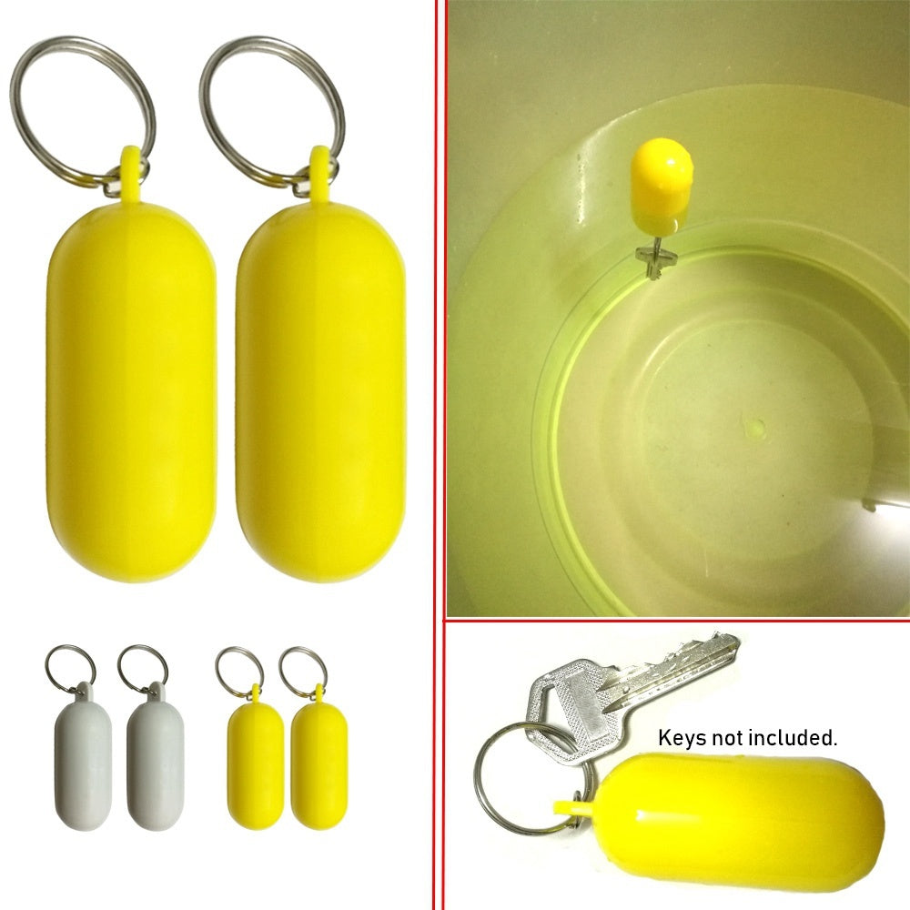 1/2pcs High quality Water Sports Accessories Rowing Boats Tool Keys buckle Fender Buoyant holder Float Canal Keychain Kayak keyring Floating Key ring