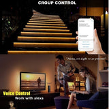 32.8ft(10M) RGB Waterproof LED Strip Lights, Smart Home Wifi App Controlled Rope Lights Decoration for App Control,Alexa,Google Assistantremote Control,IR Remote Controller, Music Remote
