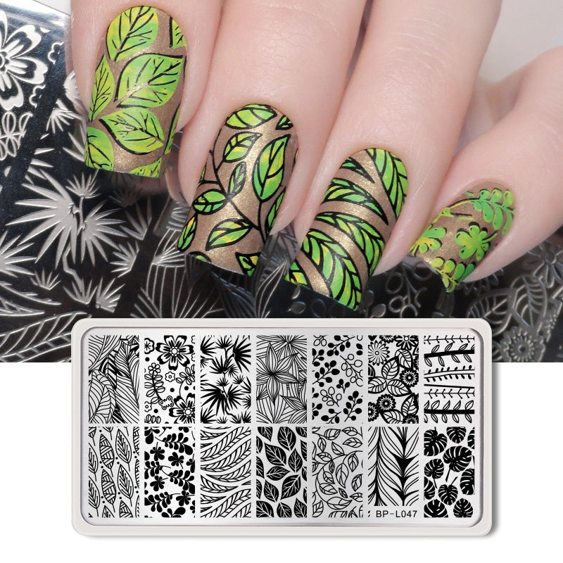 BORN PRETTY Nail Art Stamp Nail Stamping Template Flower Geometry Animals DIY Nail Image Plate Stencil