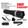 SWAT Multifunction Flashlight: USB + Car Charger