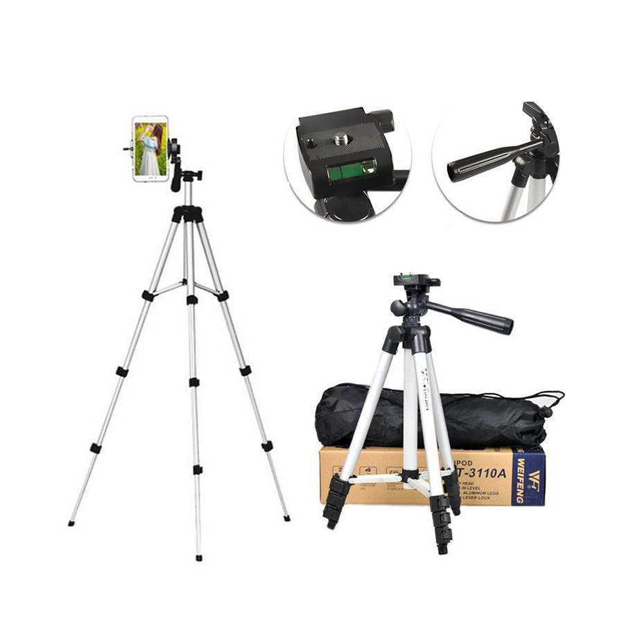 TF-3110 Professional Tripod with Pan & Amp; Tilt Head for DSLR Camera