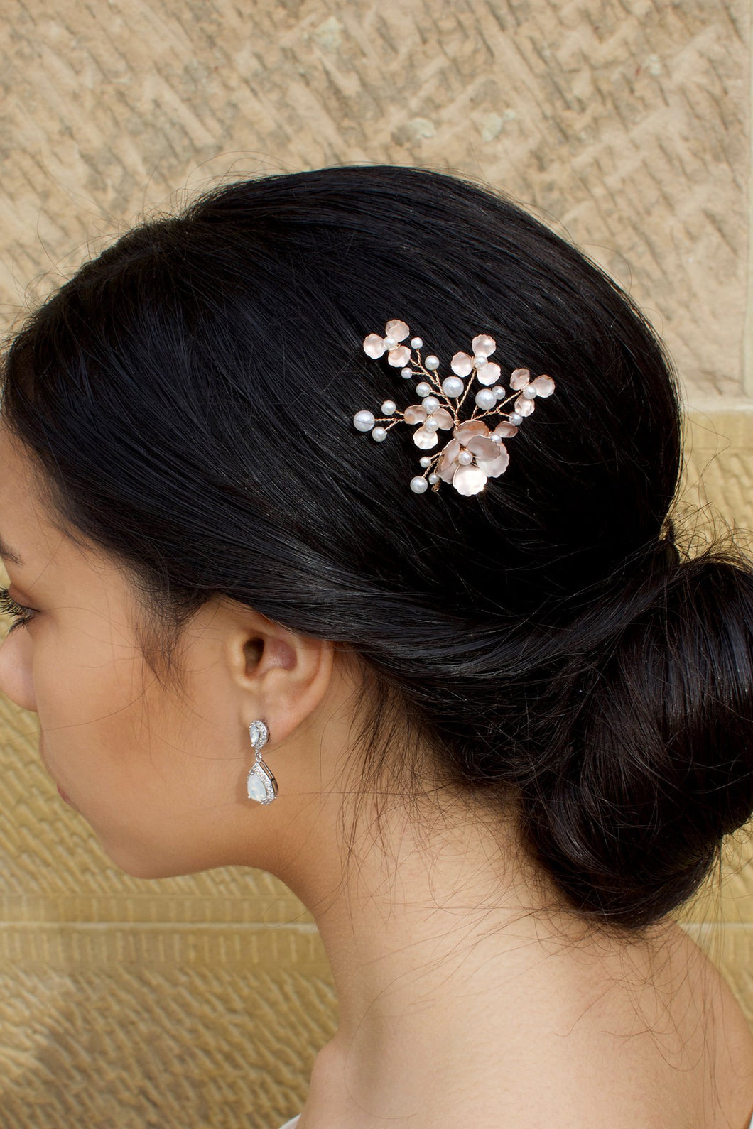 Iris Hair Pin - Rose Gold