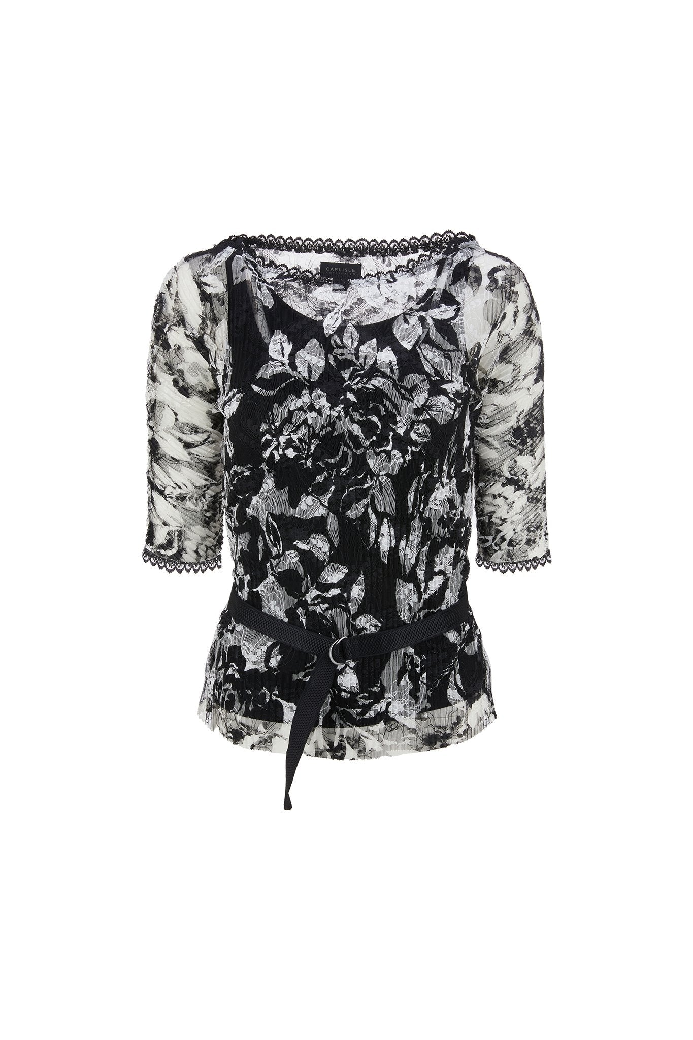 Giselle - Embroidered Organza Blouse