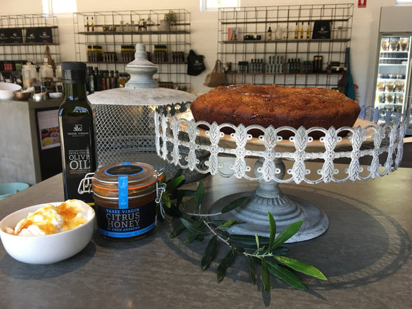 Olive Oil, Citrus Honey & Lemon Cake with Yoghurt