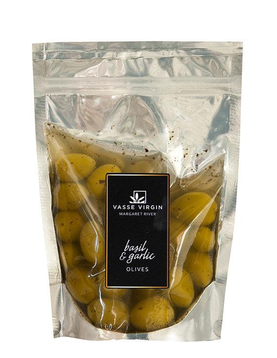 Basil and Garlic Olives 250g