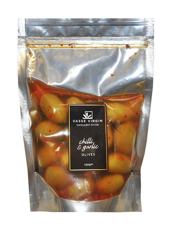 Chilli and Garlic Olives 250g