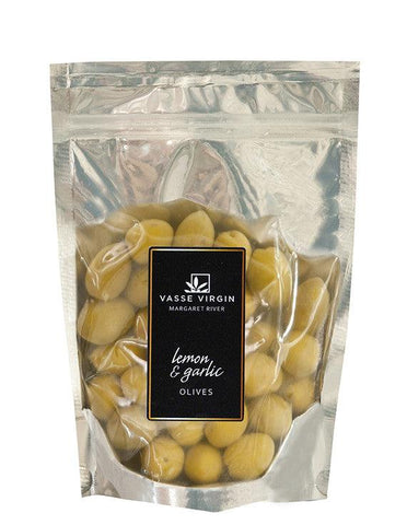 Lemon Garlic Olives