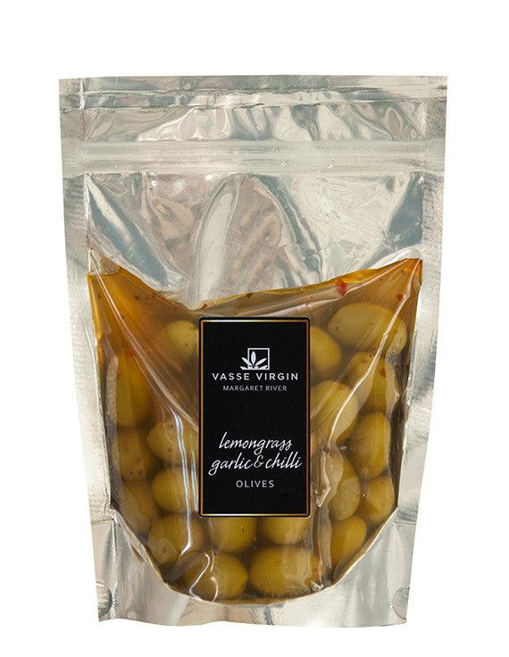 Lemongrass, Chilli and Garlic Olives 250g