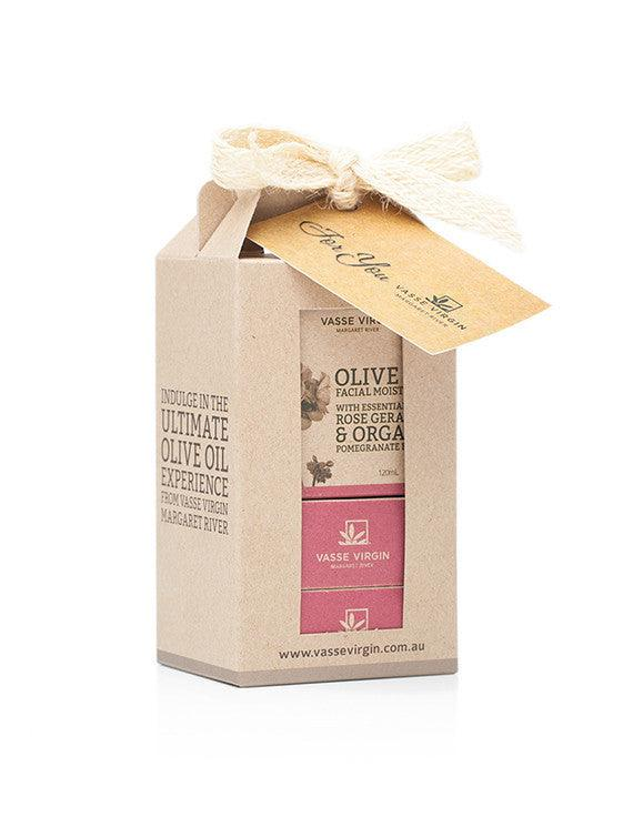 Rose Geranium & Pomegranate Moisturiser and Soap Gift Box