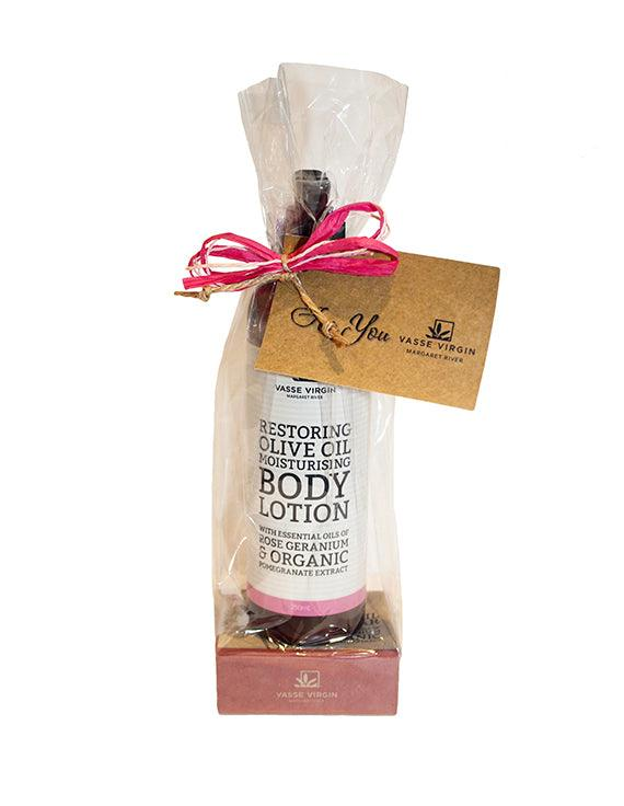 Rose Geranium & Pomegranate Lotion and Soap Gift Pack