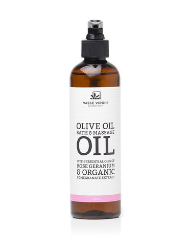 Rose Geranium & Pomegranate Bath and Massage Oil 250ml