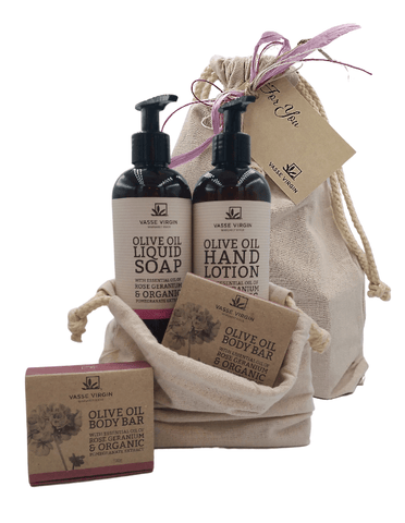 Rose Geranium & Pomegranate Hand Care Gift Pack